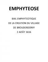 EMPHYTEOSE